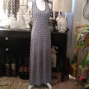 Abstract print sundress with racer back